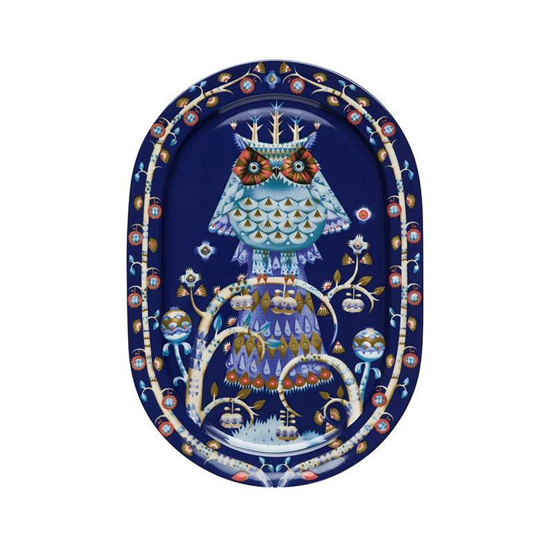 Iittala Taika Blue 41cm Oval Serving Platter by Klaus Haapaniemi
