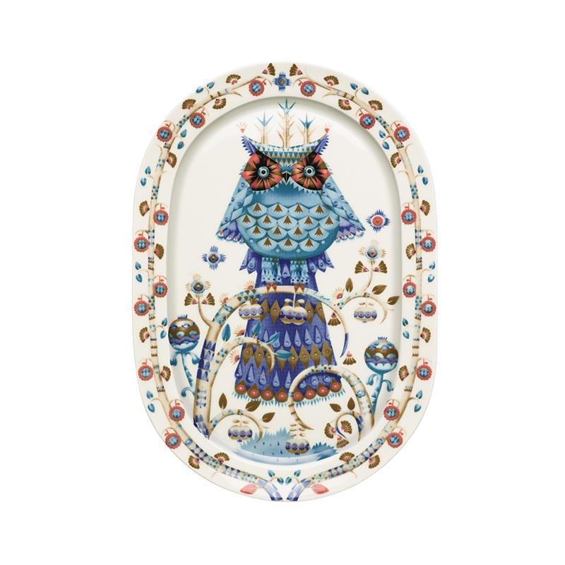 Iittala Taika White 41cm Oval Serving Platter by Klaus Haapaniemi