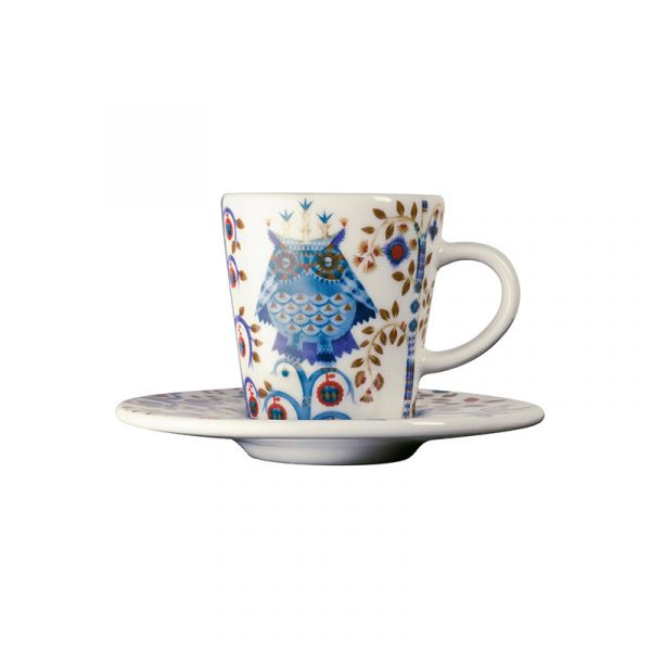 Iittala Taika White Espresso Cup 0.1L & Saucer – Set of Two by Klaus Haapaniemi