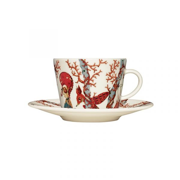 Iittala Tanssi Cappuccino Cup 0.2L & Saucer – Set of Two by Klaus Haapaniemi