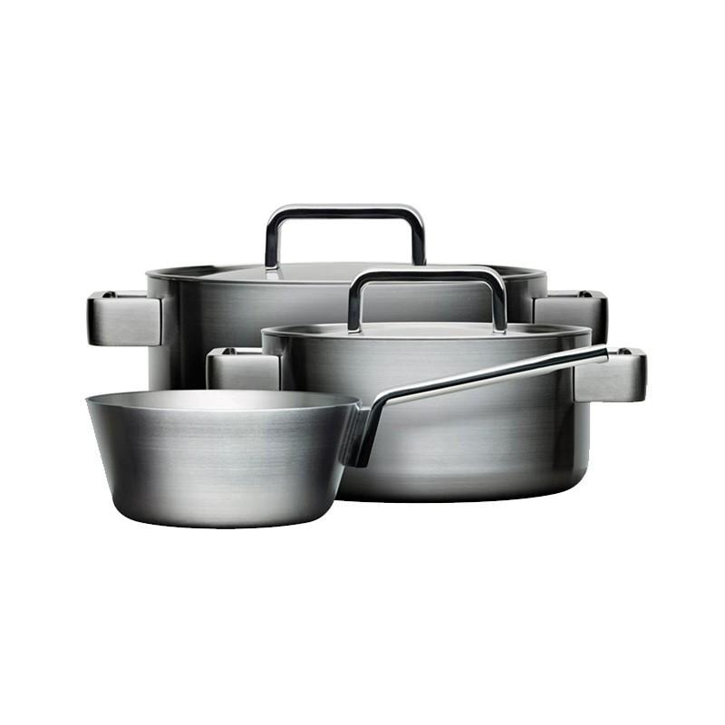 Iittala Tools 3-set (Tools 1.0L Sauteuse, 2.0L & 3.0L Casserole) by Bjorn Dahlstrom