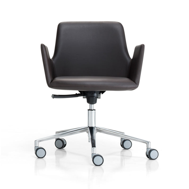 Inclass Altea Armchair with Swivel Base on Castors by Jorge Pensi