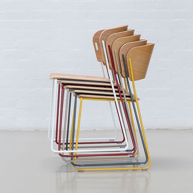 Inclass-Arc-Chair-with-Sled-Base-by-Yonoh-1 Olson and Baker - Designer & Contemporary Sofas, Furniture - Olson and Baker showcases original designs from authentic, designer brands. Buy contemporary furniture, lighting, storage, sofas & chairs at Olson + Baker.
