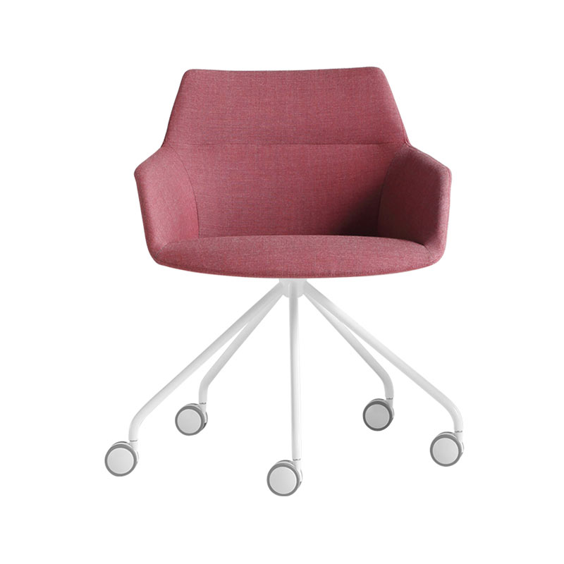 Inclass Dunas XS Armchair with Swivel Base on Castors by Christophe Pillet