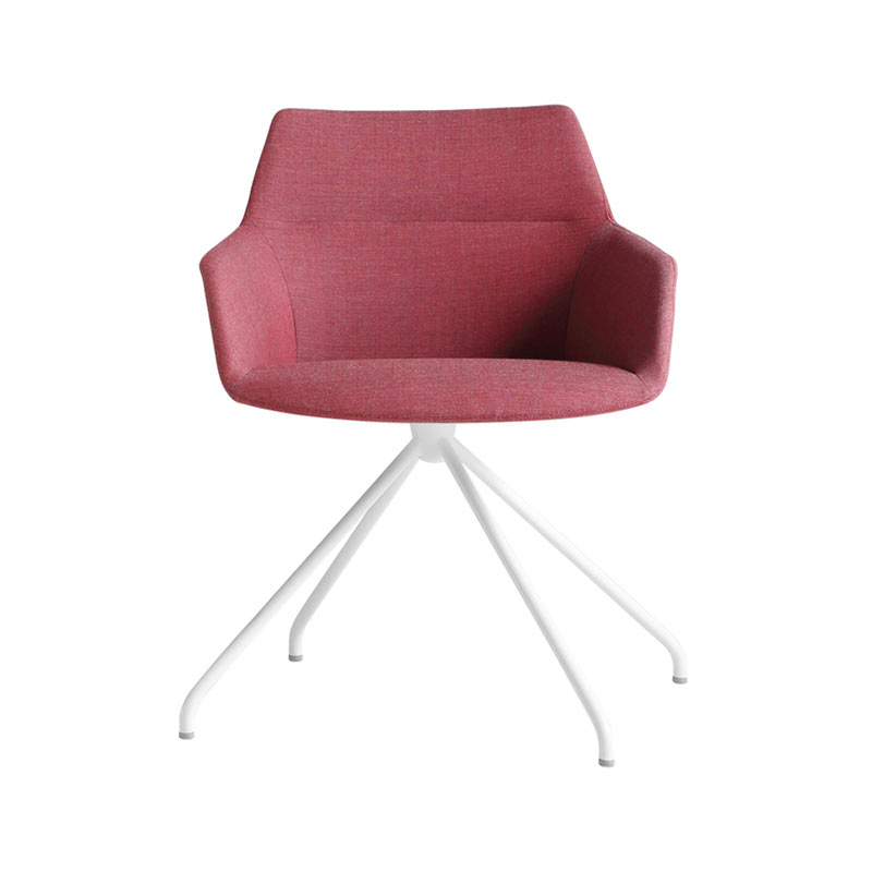 Inclass Dunas XS Armchair with Trestle Swivel Base by Christophe Pillet