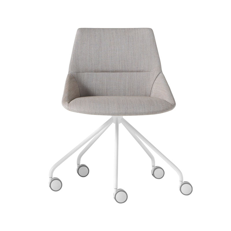Inclass Dunas XS Chair with Swivel Base on Castors by Christophe Pillet