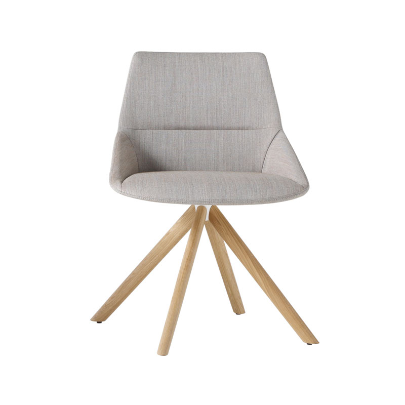 Inclass Dunas XS Chair with Wooden Swivel Base by Christophe Pillet