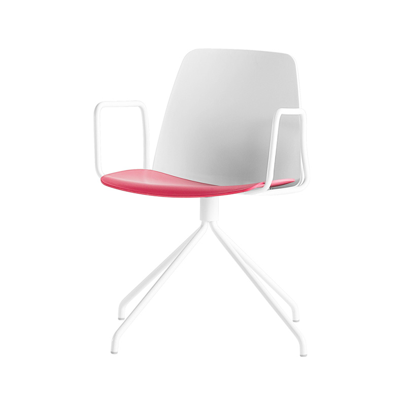 Inclass Unnia Armchair with Trestle Swivel Base by Simon Pengelly