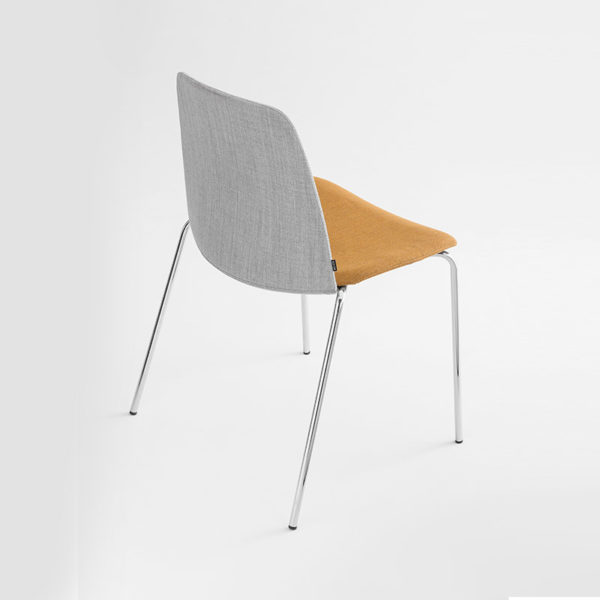 Unnia Upholstered Chair with Four Leg Base