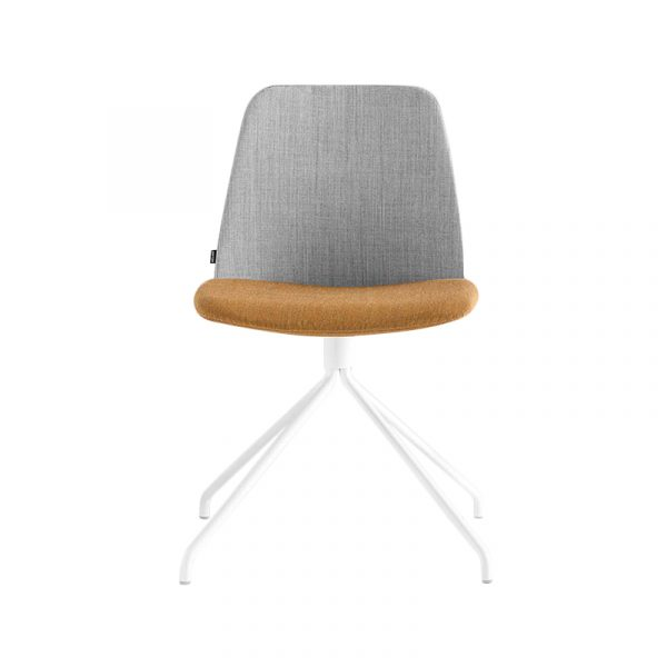 Inclass Unnia Upholstered Chair with Trestle Swivel Base by Simon Pengelly
