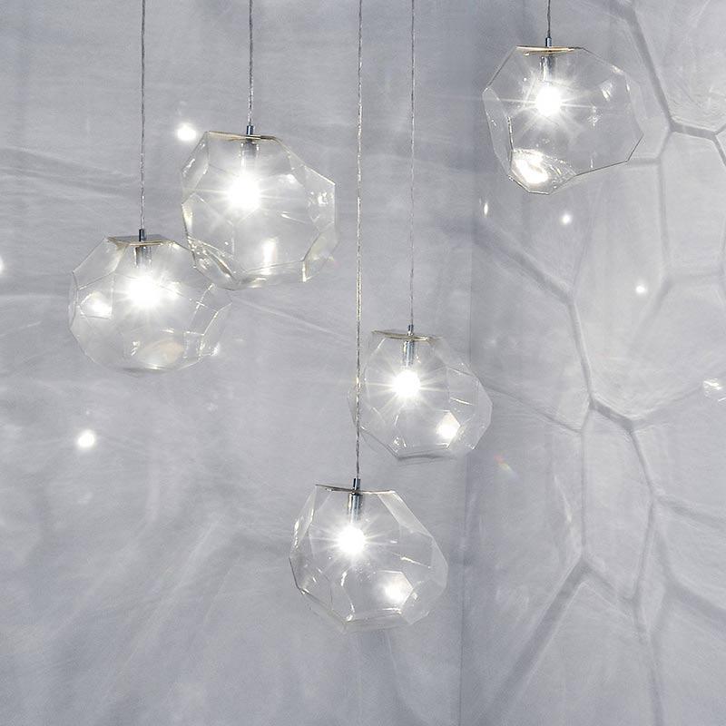 Innermost Asteroid Glass Pendant Light by Koray Ozgen