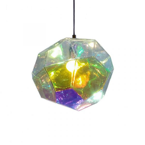 Innermost Asteroid Petrol Glass Pendant Light by Koray Ozgen