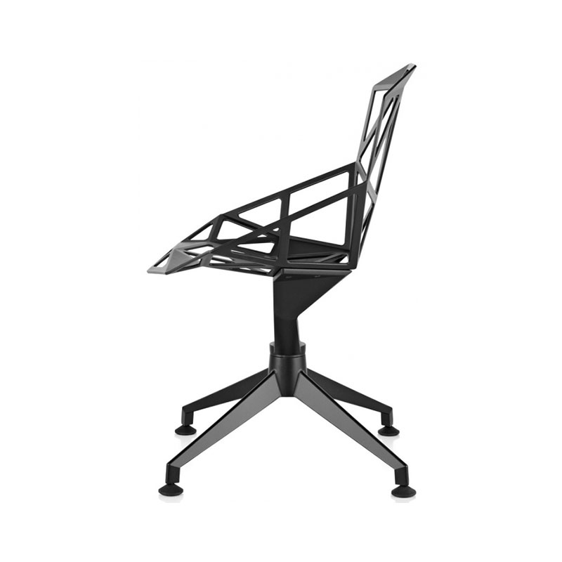 Magis Chair One Polished with Four Star Base by Konstantin Grcic
