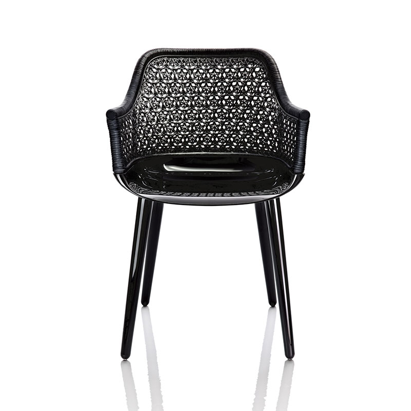 Magis Cyborg Elegant Chair in Black by Marcel Wanders