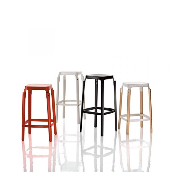 Steelwood High Bar Stool