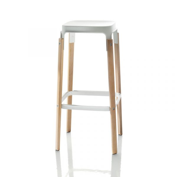Magis Steelwood High Bar Stool by Ronan & Erwan Bouroullec
