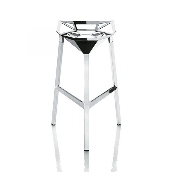 Magis Stool One Polished Low Bar Stool by Konstantin Grcic