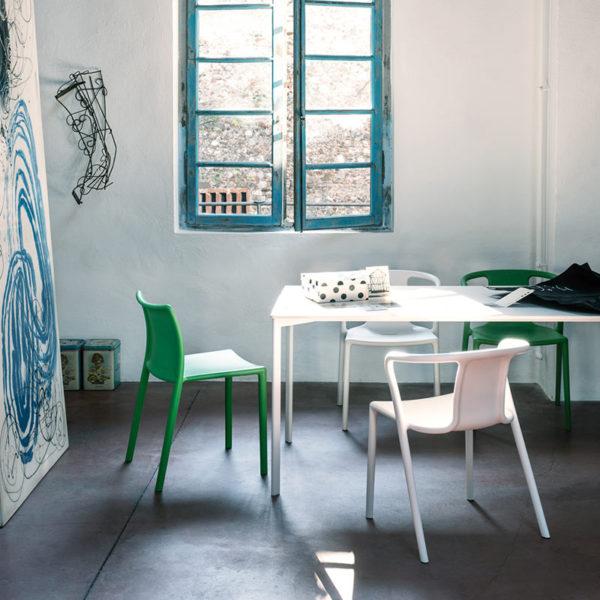 Striped 159x79cm Rectangular Dining Table