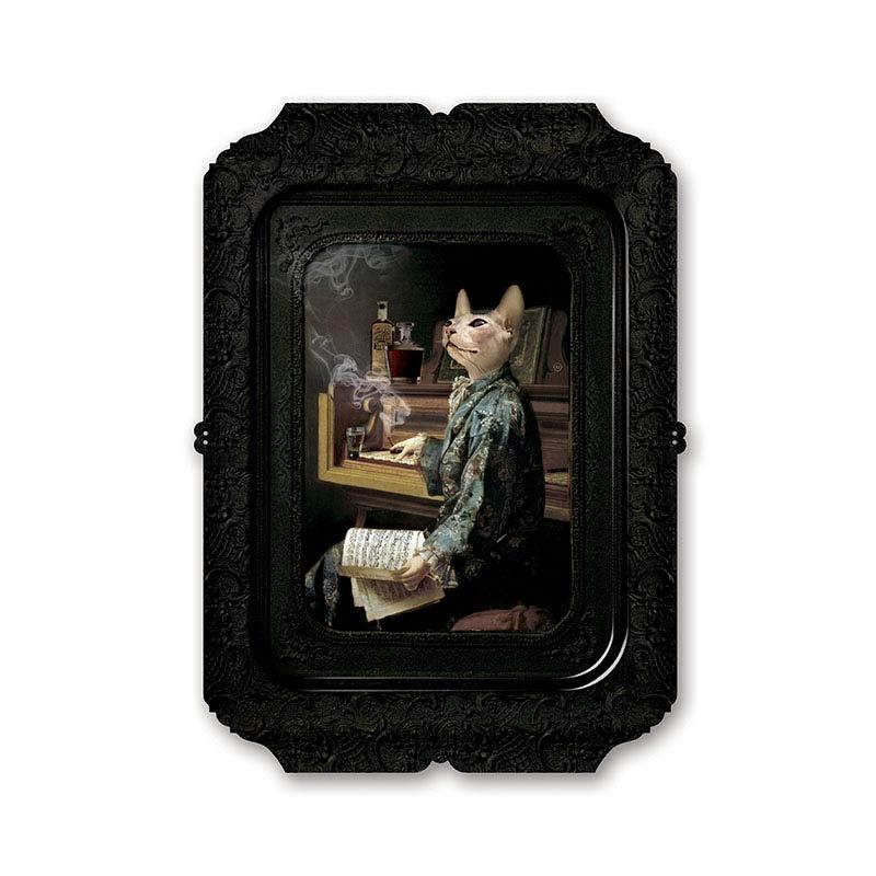 ibride Galerie De Portraits Lazy Victoire Tray by Rachel & Benoit Convers