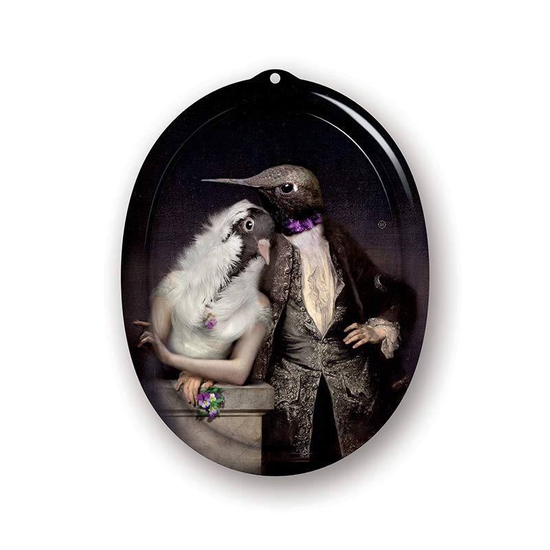 ibride Galerie De Portraits The Lovebirds Tray by Rachel & Benoit Convers