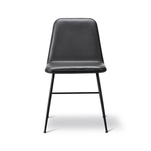 Fredericia Spine Fully Upholstered Chair with Metal Base by Space Copenhagen