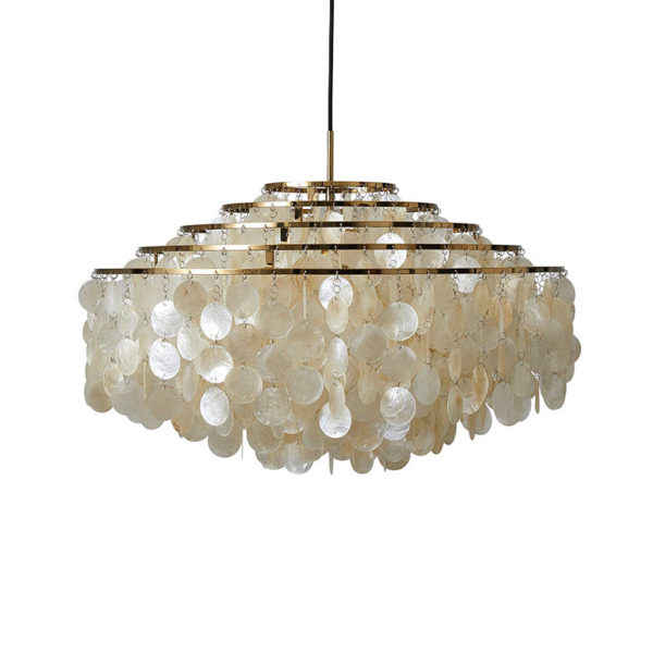 Verpan Fun 11DM Pendant Light in Brass by Verner Panton