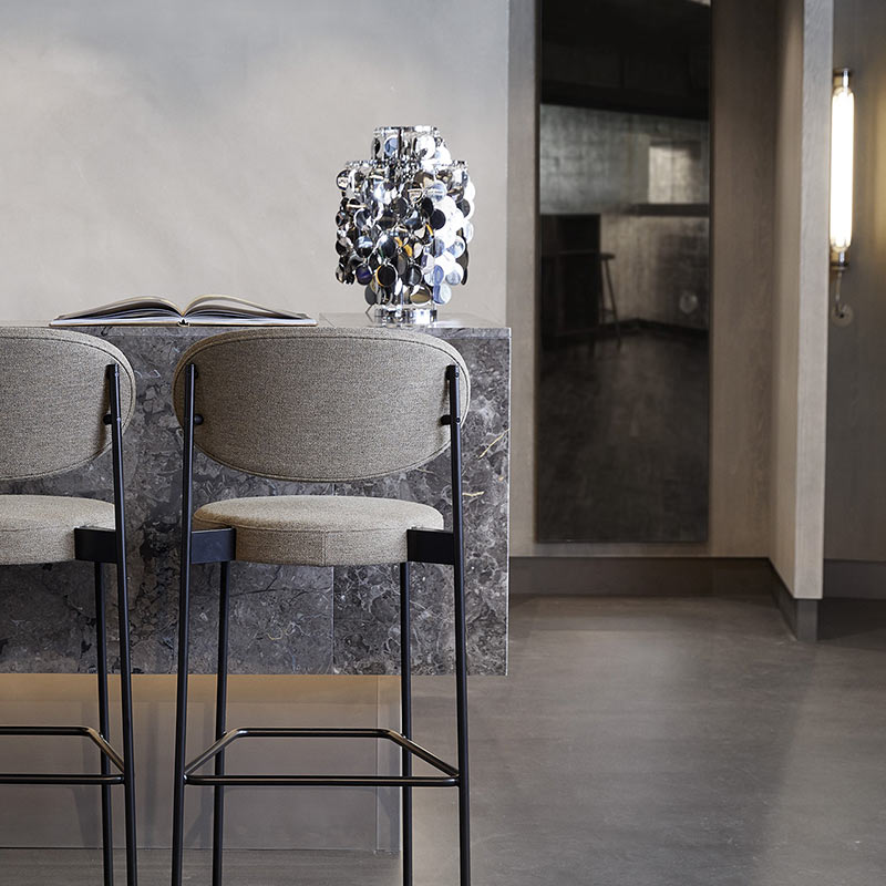 Verpan - Series 430 High Bar Stool by Verner Panton 2 Olson and Baker - Designer & Contemporary Sofas, Furniture - Olson and Baker showcases original designs from authentic, designer brands. Buy contemporary furniture, lighting, storage, sofas & chairs at Olson + Baker.