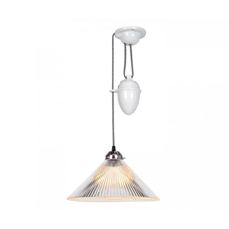 Original BTC Coolie Prismatic Pendant Light by Original BTC