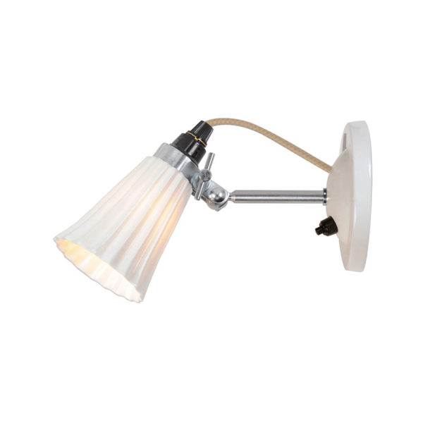 Original BTC Hector Small Pleat Switched Wall Light by Original BTC