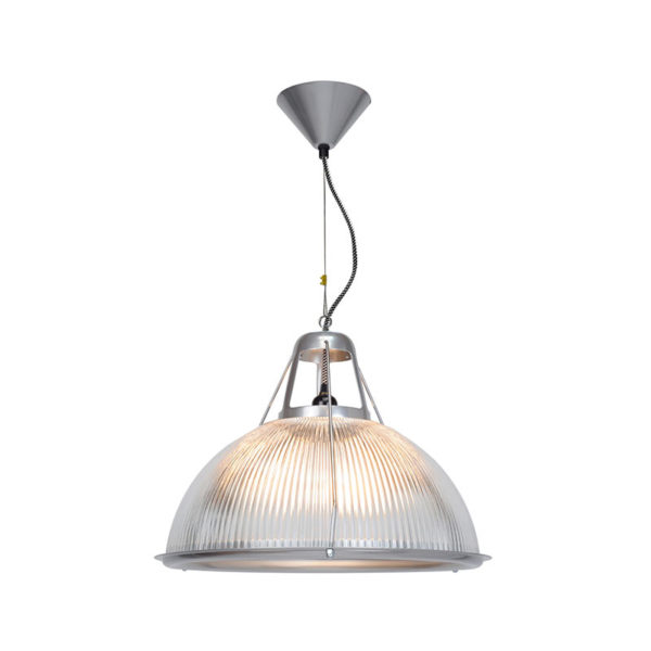 Original BTC Phane Large Prismatic Glass Pendant Light by Original BTC