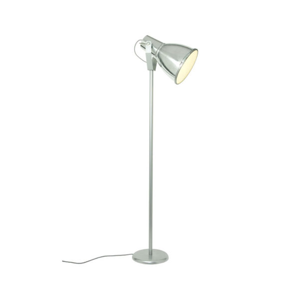 Stirrup 3 Floor Light with Etched Glass