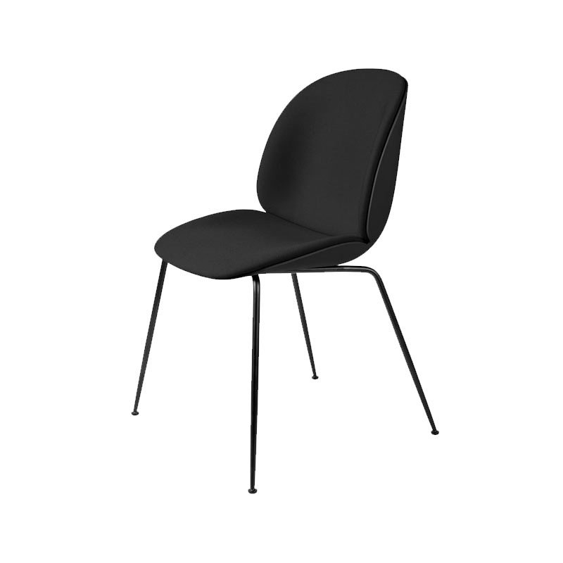 Gubi Beetle Seat Front Upholstered Stackable Dining Chair by Gam Fratesi