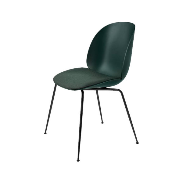 Gubi Beetle Seat Upholstered Stackable Dining Chair by Gam Fratesi