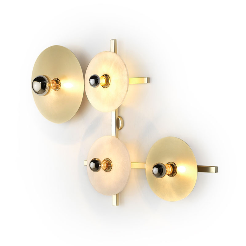 Aromas Abby Wall Lamp with Metal Disc Diffusers by AC Studio