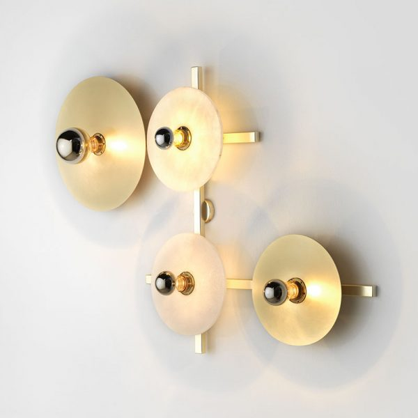 Abby Wall Lamp with Metal Disc Diffusers