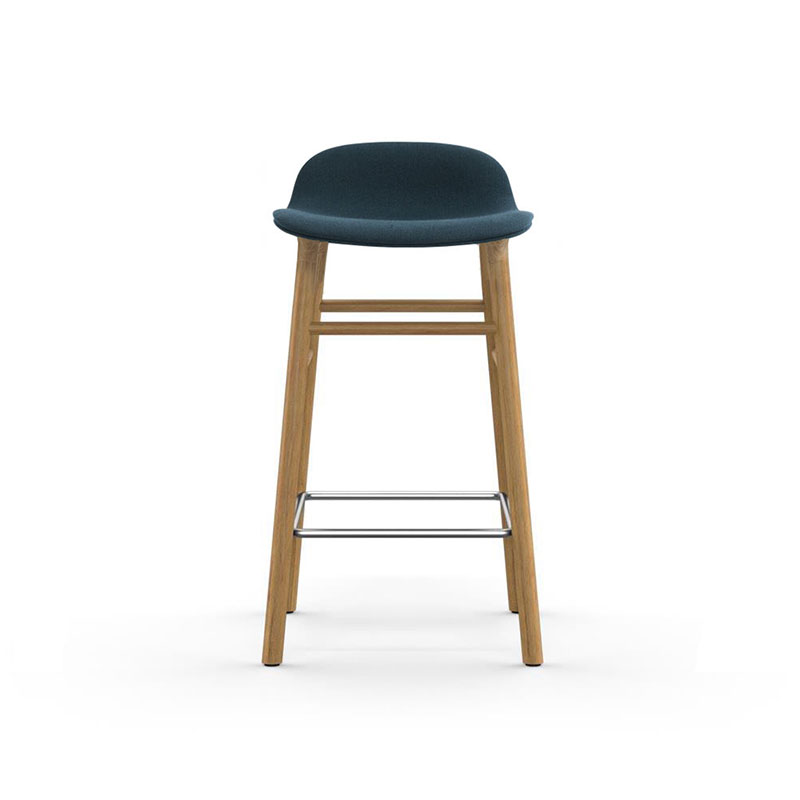 Normann Copenhagen Form Fully Upholstered Low Bar Stool by Simon Legald