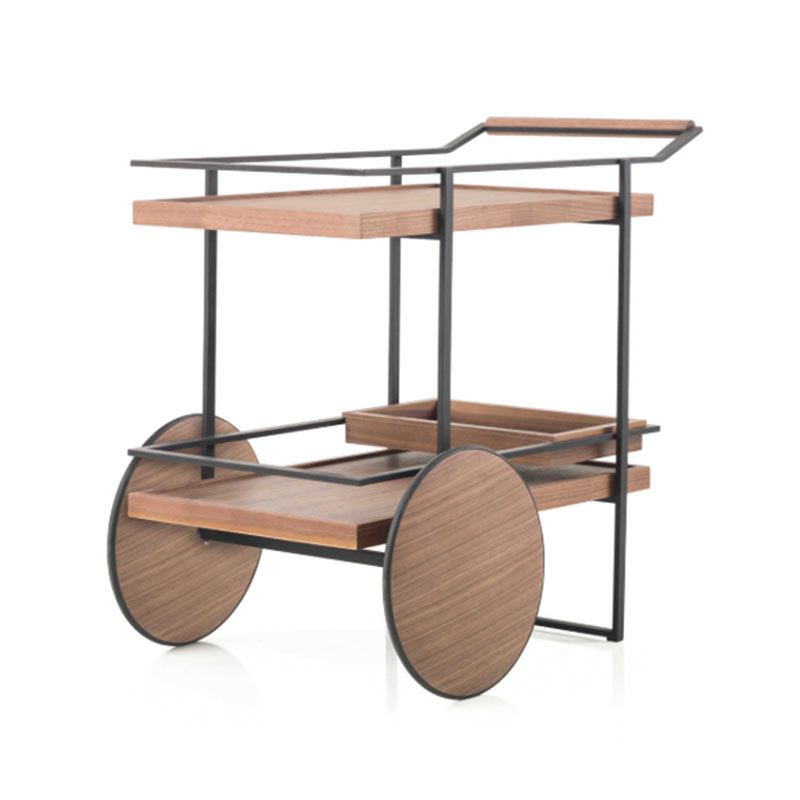 Stellar Works James Bar Cart by Yabu Pushelberge Olson and Baker - Designer & Contemporary Sofas, Furniture - Olson and Baker showcases original designs from authentic, designer brands. Buy contemporary furniture, lighting, storage, sofas & chairs at Olson + Baker.