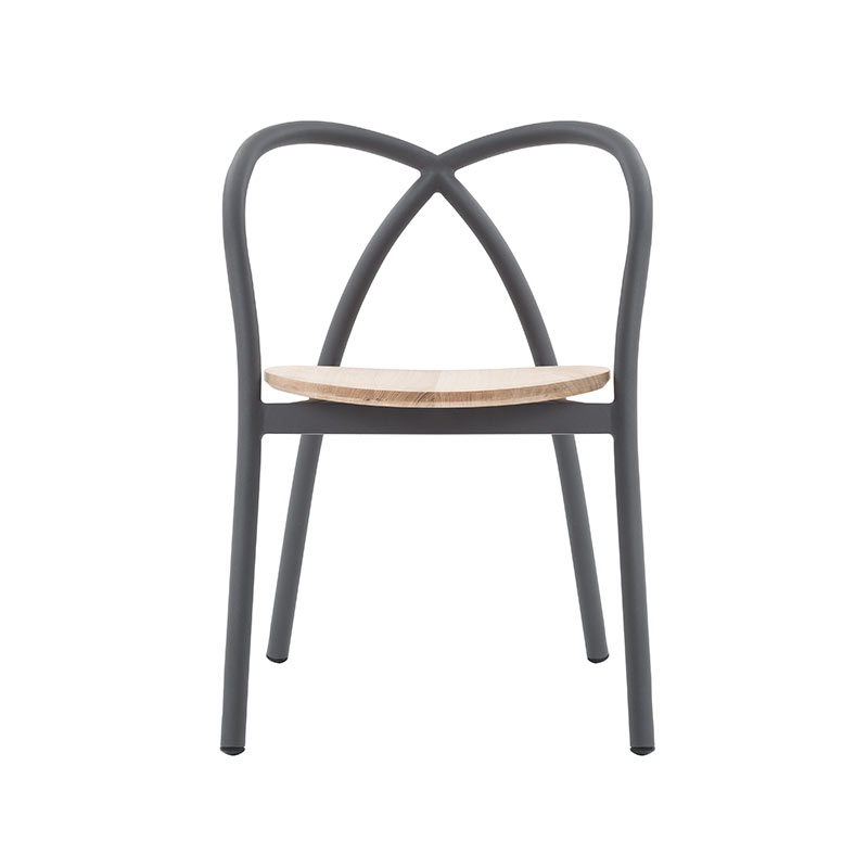 Stellar Works Ming Aluminium Chair with Wood Seat by Neri & Hu
