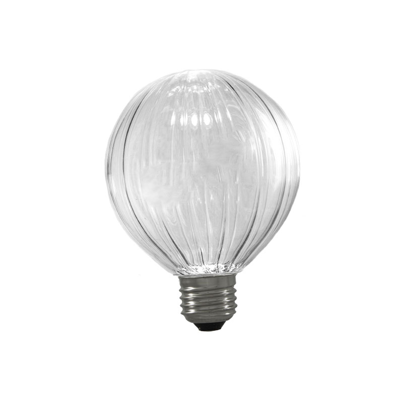 Aromas B037 E27 Ribbed Globe Light Bulb by Aromas