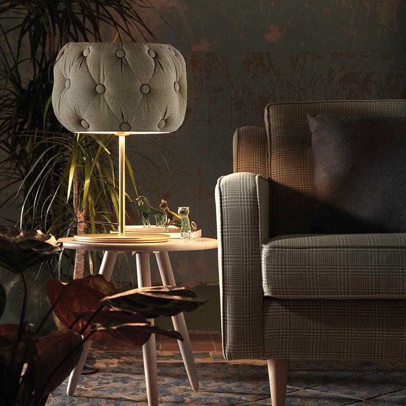 Aromas Chateau Velvet Table Lamp by AC Studio 2