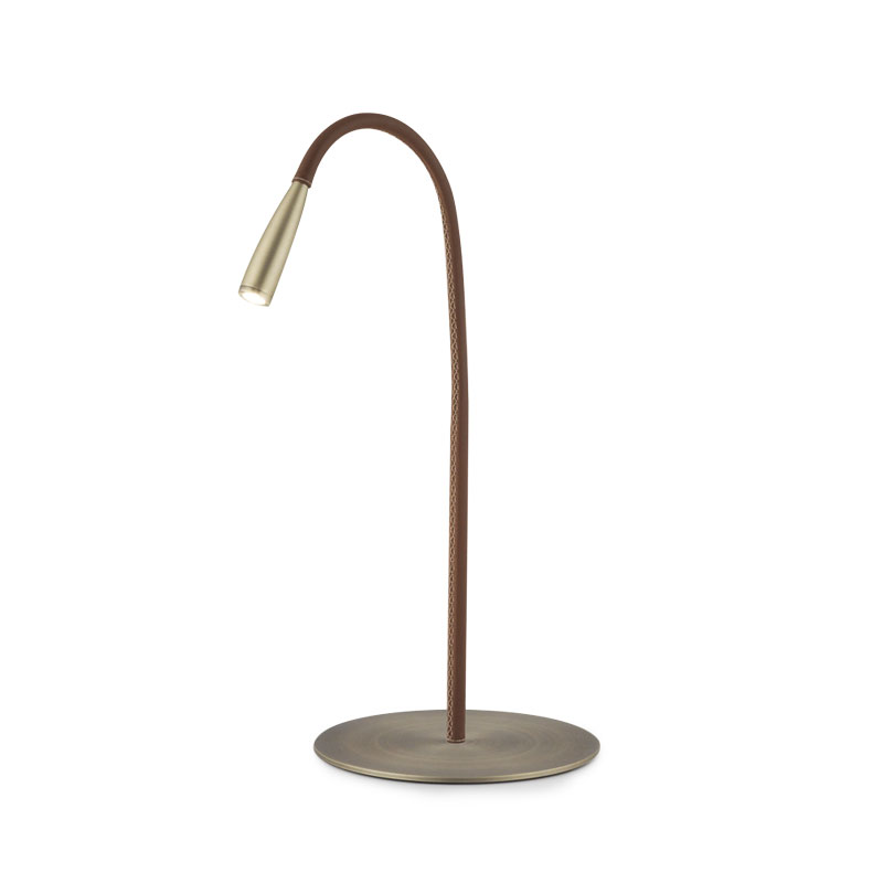 Aromas Felxi Leather Table Lamp by AC Studio