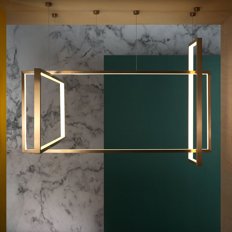 Aromas Frame Chandelier by Pepe Fornas 2