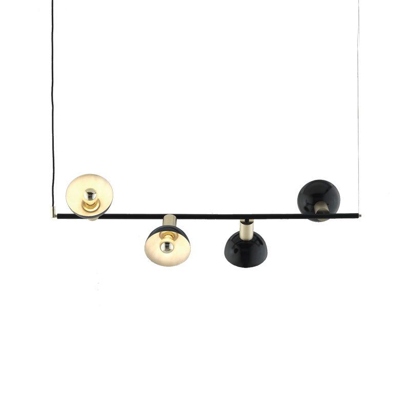 Aromas Ohlala Chandelier with Round Shades by AC Studio