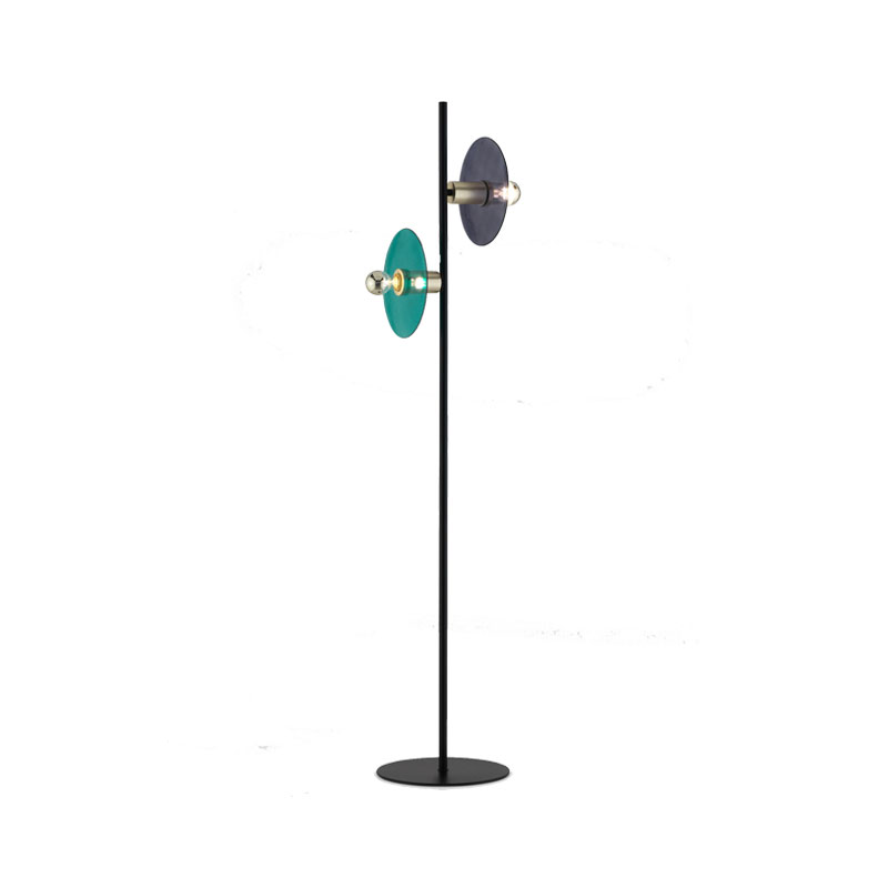 Aromas Ohlala Floor Lamp with Glass Disc Shades by AC Studio