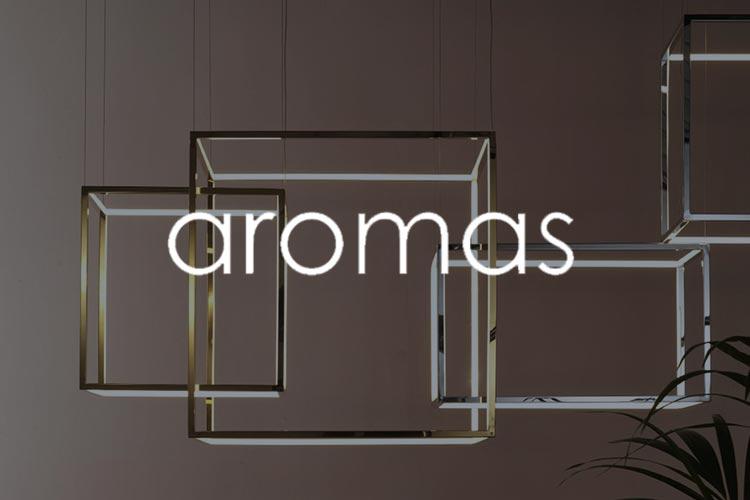 Aromas brnd logo with image