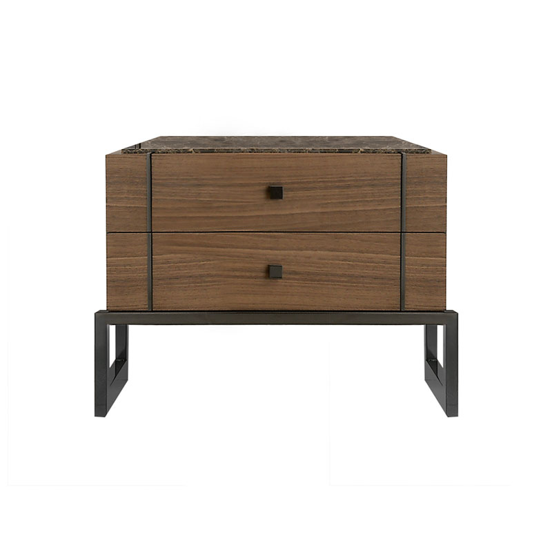 Olson and Baker Faraday Bedside Table with Two Drawers by Olson and Baker Studio