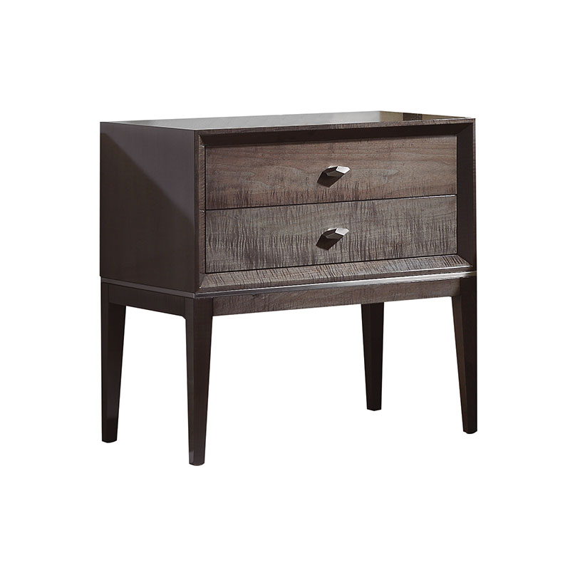 Olson and Baker Gibbons Bedside Table with Two Drawers by Olson and Baker Studio