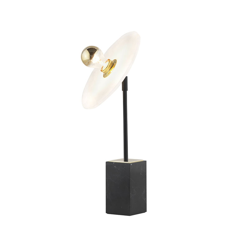 Aromas Sun Light Table Lamp with Alabaster Disc by Fornasevi
