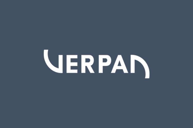 Verpan brand logo blue back