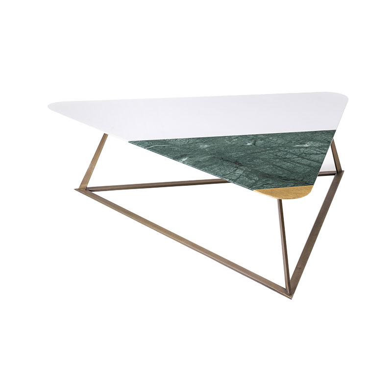 Alex Mint Golden Archer 118x104cm Coffee Table by Alexia Mintsouli